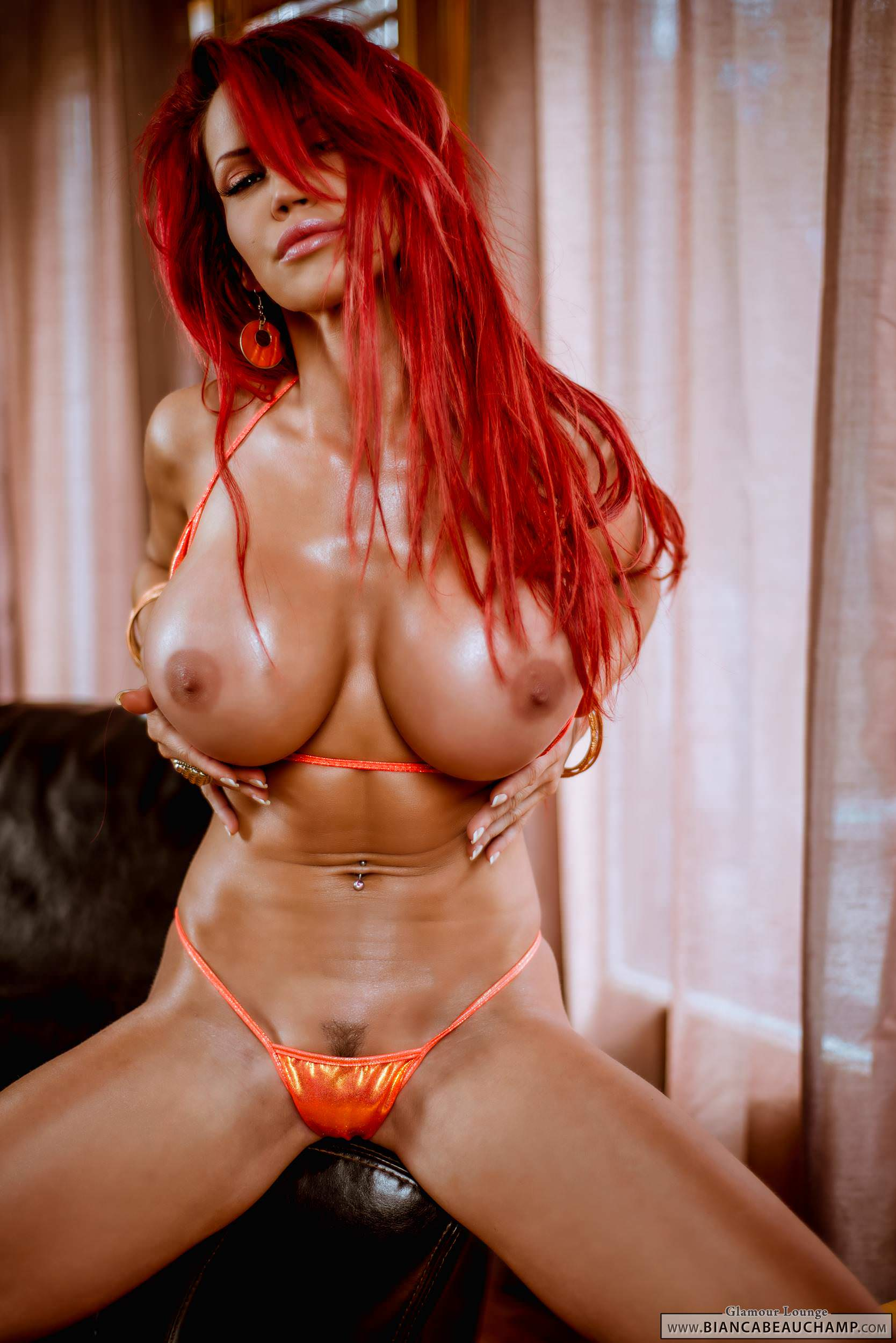 Bianca Beauchamp Orange Bikini