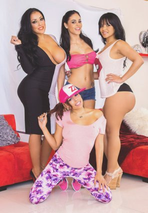 amateur photo Luna Star, Kiara Mia, Jasmine Caro, and Rose Monroe :)