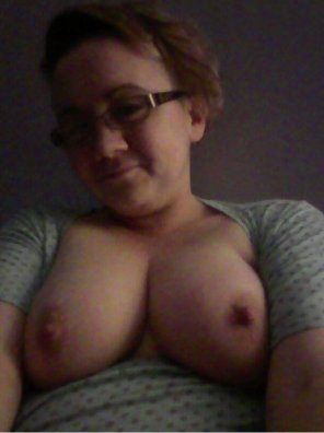 amateur photo A lil' chunky with hard nipples