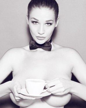 amateur photo Bow tie and tea
