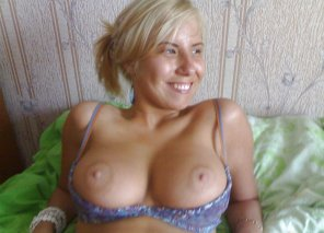 amateur photo Pretty blonde with nice, big tits.