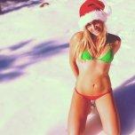 amateur photo Snow bikini