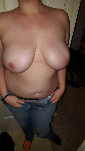 amateur photo Will you help take my jeans off ;)