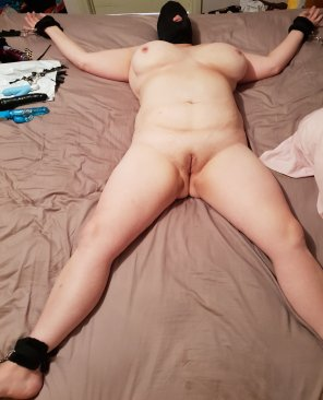 amateur photo Tied up and ready for you to taste.