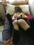 amateur photo My pale gf on a leash being my little slut [F19/M20]