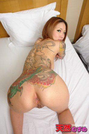 amateur photo Tattooed asian