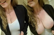 Busty receptionist
