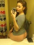 amateur photo Sitting on the bathroom sink