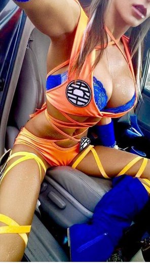 amateur photo Happy National Goku Day with Hot Babe