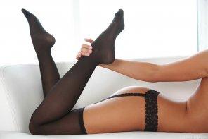 amateur photo Holding a leg
