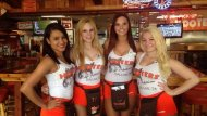 Hooters girls.