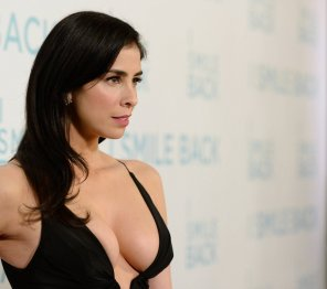 amateur photo Sarah Silverman's great cleavage