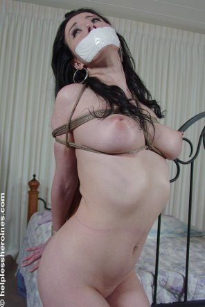 amateur photo Tape Gagged and Tied