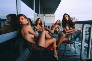 amateur photo Babes on the balcony