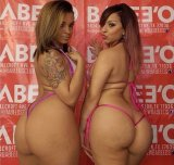 Big big asses in thong