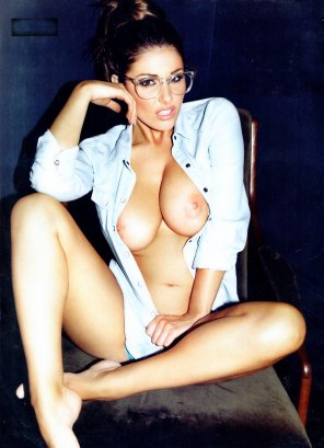amateur photo Lucy Pinder with Glasses