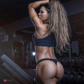 amateur photo Gym babe