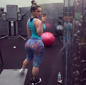 amateur photo Kathy at the Gym