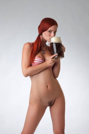amateur photo ariel sippin on a brew