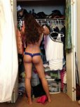 amateur photo Innocently getting dressed