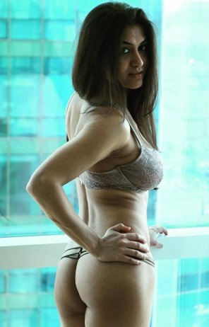 amateur photo Real Hottie by the Balcony