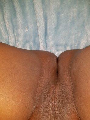 amateur photo Honey pot is so hidden away after I cum. 🤤🤤