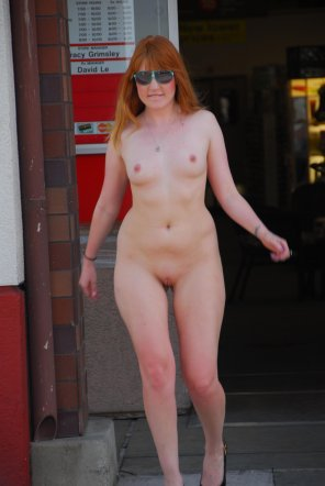 amateur photo Cute ginger in public