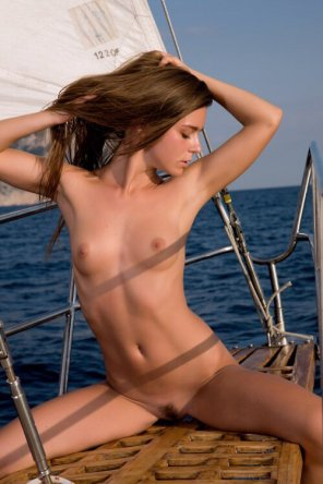 amateur photo She's on a boat