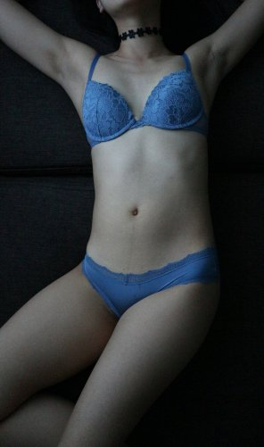 amateur photo Trying out my new lingerie!