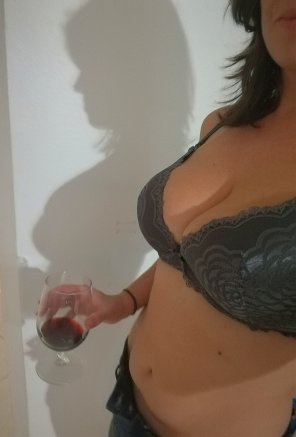 amateur photo My shadow and I could use another glass [f]