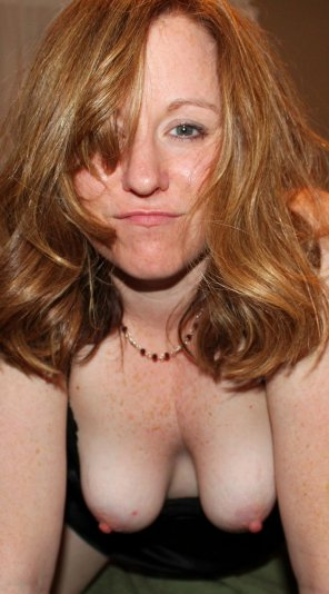 amateur photo Topless ginger