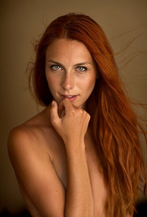 amateur photo Long haired redhead