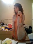 amateur photo Selfie just in a blouse