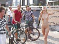 amateur photo blonde in public