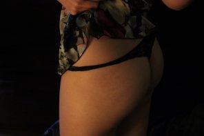 amateur photo My little black thong..