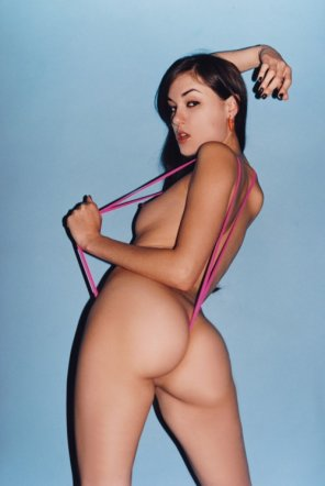 amateur photo Sasha Grey in a Pink G-String