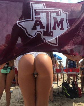 amateur photo Aggies doing spring break right