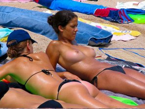amateur photo If she needs any sunblock...