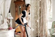 amateur photo Jennifer Aniston french maid