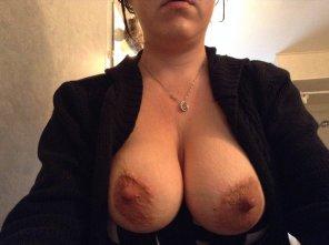 amateur photo Tittymom's Big Nipples