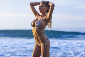 amateur photo Another shot of Charlotte McKinney in her skimpy silver bikini
