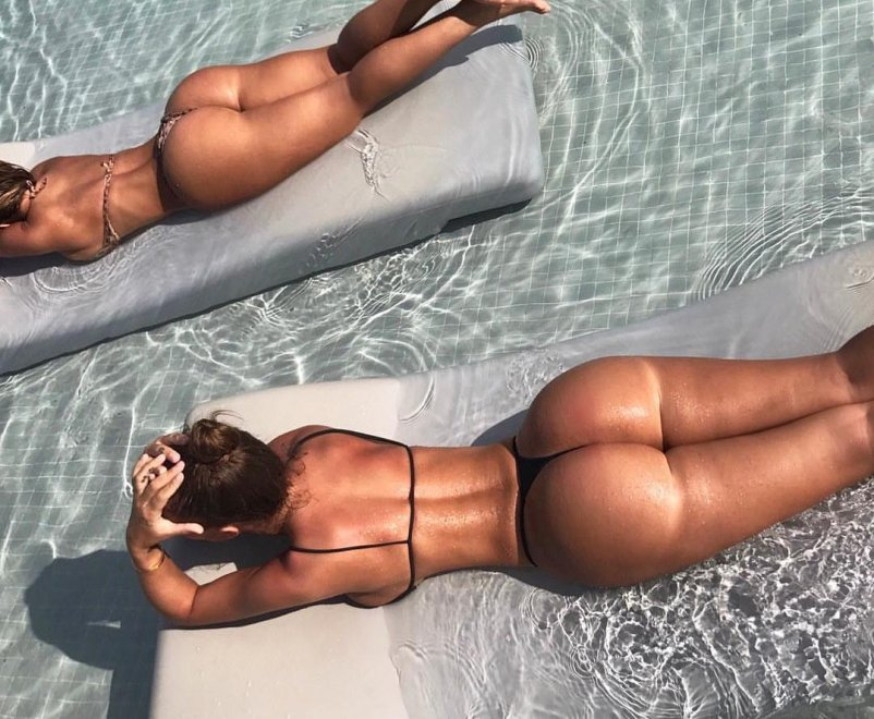 Poolside PAWGS Porn Photo