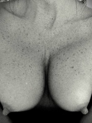 amateur photo Freckled chest