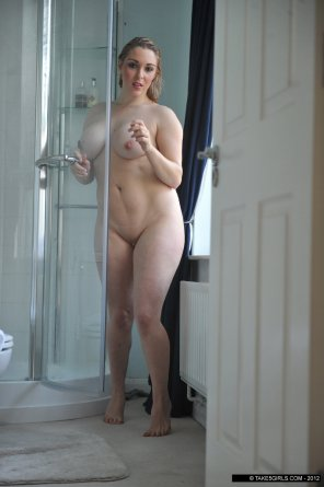 amateur photo Exiting the shower