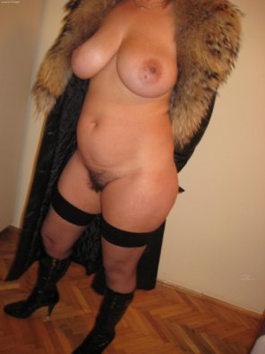 amateur photo Dressed in fur