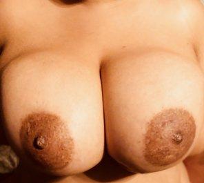amateur photo [Image] My wifes size F tits
