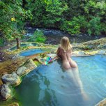 amateur photo Blonde relaxing in nature
