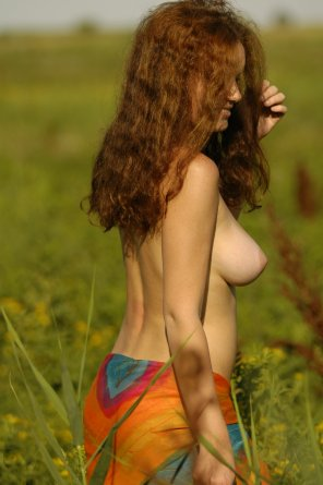 amateur photo Happy in the field
