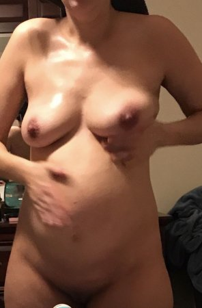 amateur photo My tits are getting so full