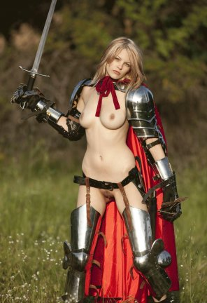 amateur photo Sexy Blonde In Armor